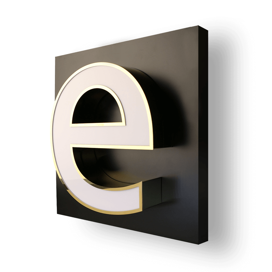 profil2-lettre-boitier-acrylique-opale-aciel-inoxydable-garniture-metal-éclairage-frontal-led-production